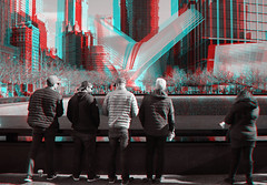 New York, New York (DDDavid Hazan) Tags: ny newyork nyc manhattan wtc september11 sept11 memorial groundzero oculus anaglyph 3d bw blackandwhite bwanaglyph 3danglyph 3dstereophotography redcyan redcyan3d stereophotography stereo3d