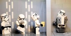 Bathroom line on the Death Star (RagingPhotography) Tags: lego humor bathroom galactic empire ragingphotography death star wars line