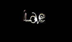 love in the middle (PDKImages) Tags: lights torch dark hearts love sparklers sparkle message fizz writing fizzy heart cat face bright daisy flower
