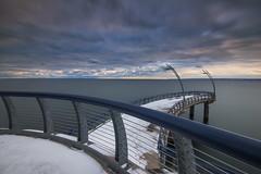 Brant Street Pier, Burlington Ontario (angie_1964) Tags: sunrise brantstreet pier burlington ontario canada longexposure sky nature lakeontario lake snow