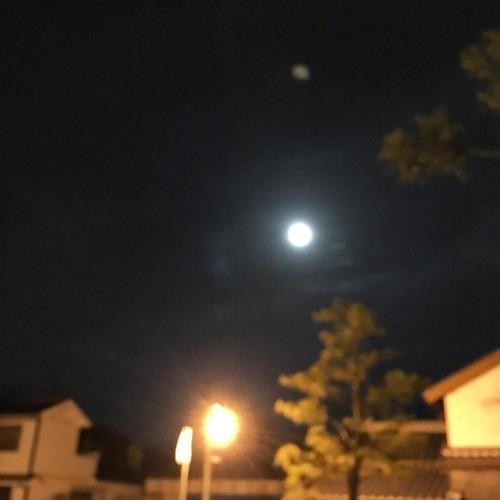 月齢ちょうど15.0て訳ではないですが満月、かなw