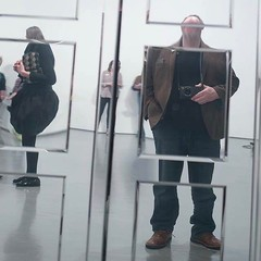 A moment of reflection in time at the brilliant #markwallingermark exhibition @dcadundee @fruitmarketgallery