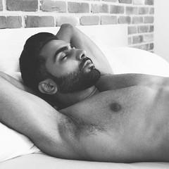Photo Shoot : Sunny B (jkc.photos) Tags: shirtless blackandwhite man male beard model photoshoot muscle beared