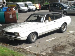 Ford Capri 1.6S JPS LYB427P (Andrew 2.8i) Tags: ford capri 16 s jps white midnight special classic car sports coupe all types transport