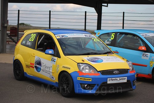 Ronan Quinn after Race 2, Fiesta Junior Championship, Rockingham, Sept 2015