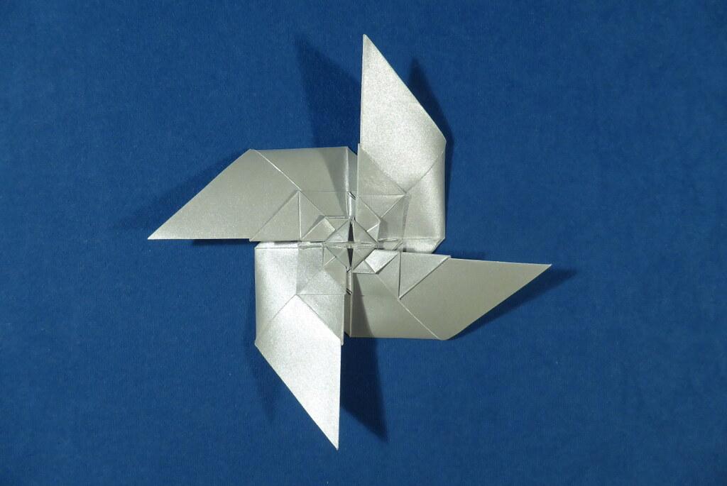 Fractal Pinwheel Michal Kosmulski Tags Origami Recursive Propeller Metallicpaper Michalkosmulski