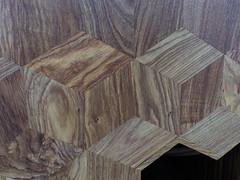 When 2D meets 3D (Charos Pix) Tags: chinese cube hardwood parallelogram huali trompel'oeil aiweiwei woodencube chinesecraft rubik'scube giantrubik'scube honeytonedhuali