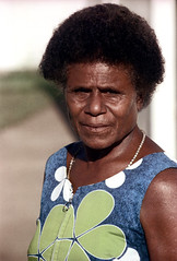 29-271 (ndpa / s. lundeen, archivist) Tags: portrait people woman color film face fiji 35mm hair clothing dress natural afro nick suva clothes southpacific 29 1970s 1972 hairstyle curlyhair dewolf oceania fijian pacificislands nickdewolf photographbynickdewolf reel29