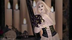 354 - The ghostly bride (Sannita_Cortes) Tags: halloween fashion female bride ghost sl secondlife gift styles bouquet ikon hunt kosh virtualworld slink virtualfashion poshpixels flawlessfrightfuldelightfulcartsalehunt