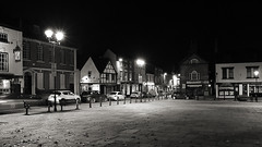 Market Square (hartlandmartin) Tags: night lights town fuji fujifilm warwickshire marketsquare atherstone fujix10