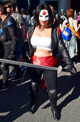 DSC_0389 (Randsom) Tags: newyorkcity leather fun costume october mask cosplay superhero sword comicbooks dccomics katana spandex comicconvention justiceleague jla javitscenter 2015 nycc nycc2015 newyorkcomiccon2015 nycomiccon2015