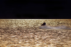 Sunset Seadooers (Mister Day) Tags: sunset lake fall water reflections bc pentax zoom recreation kelowna