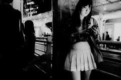 ((Jt)) Tags: blackandwhite girl night asia streetphotography korea busstop asiangirl suwon travelphotography koreangirl jtinseoul fujifilmx100t