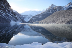 Lake Louise (no_bunting) Tags: lake snow reflection glacier banffnationalpark victoriaglacier lakeloiuse