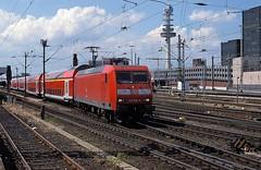 145 034  Hannover  23.06.00 (w. + h. brutzer) Tags: analog train germany deutschland nikon eisenbahn railway zug trains hannover db locomotive lokomotive 145 elok eisenbahnen eloks webru