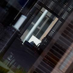 Road works in a restaurant (zeh.hah.es.) Tags: reflection window restaurant schweiz switzerland candle fenster zurich kerze blinds zrich spiegelung kreis5 fensterladen zehhahes