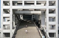 Fuji TV headquarters, Odaiba, Tokyo, Japan (maxunterwegs) Tags: japan stairs tokyo treppe tóquio 日本 東京 odaiba japão minatoku japon minato tokio fujitv japón tōkyō fujitvbuilding tōkyōto fujitvheadquarters