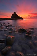 Riva red passion (Maurizio Fontana) Tags: sunset red italy color colors nikon italia tramonto colore liguria rosso colori d800