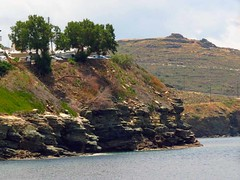 coastal cliffs IMG_1028 (mygreecetravelblog) Tags: cliff island coast seaside greece greekislands andros cyclades bluff batsi cycladesislands androsgreece androsisland batsiandros batsivillage