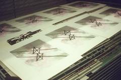 44990003 (alexdotbarber) Tags: color analog 35mm screenprint rangefinder silkscreen f28 115 kodakgold100 expiredfilm colorfilm colornegative petri7s houstonheights 45mmf28 carlospozo collaborativeprint burningbonespress