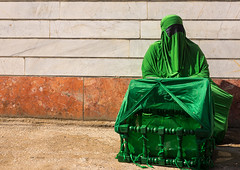 iranian shiite muslim woman on the day of tasua with her face covered by a green veil and collecting money in a craddle, Lorestan Province, Khorramabad, Iran (Eric Lafforgue) Tags: portrait people woman green face horizontal mystery female religious outdoors clothing women veil mourning adult iran muslim islam traditional religion middleeast celebration hidden covered mysterious shia ritual muharram ashura tradition niqab hussein oneperson burqa iman shiite ashoura hussain mourner craddle persiangulfstates onewomanonly   16761 tasua husayn colourimage 1people  iro shiism khorramabad  tasoua unrecognizableperson westernasia  lorestanprovince chehelmenbari