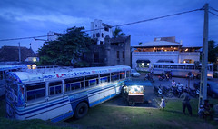 Blues for a bus (Saint-Exupery) Tags: blue nikon srilanka bluehour galle horaazul