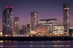 Purple Liverpool (Isheywoo!) Tags: liverpool lfc efc skyline water iver mersey buildings waterfront cold night liver sky scrapers ferry