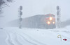 BNSF 5674, NS Huntington District, Fort Wayne, Indiana (monon738) Tags: train railroad railway railfanning bnsf5674 ns120 nshuntingtondistrict allencounty fortwayneindiana pentax k5iis unit locomotive geac4400cw ac4400cw ge snow snowstorm signals bnsf burlingtonnorthernsantafe bnsfrailway autotrain engine diesellocomotive smcpda50135mmf28edifsdm