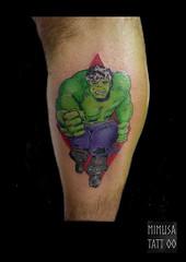 hulk_skater (MiMuSa Tattoo) Tags: tattoo tatuaje comic hulk lamasa roller color