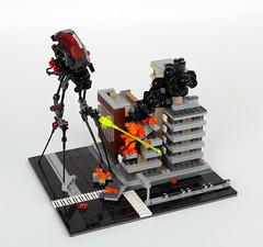 Tri-pod Walker (TOKYO TAG TEAM) Tags: lego waroftheworlds war walker tripod
