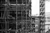 Hexagon Scaffold (cybertect) Tags: canonfd55mmf12aspherical hexagonapartments london londonwc2 sonya7 wc2 blackwhite blackandwhite construction constructionsite crane monochrome scaffold towercrane uk