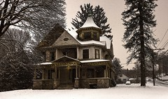 As Years Go By (Jon Scherff) Tags: winter snow victorian victorianhouse nikond810 nikon1424mmf28afs oldbuilding queenannevictorian oldhouse mansion
