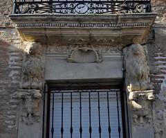 Pedraza de Campos (Palencia). Detalle de ventana de una casa (santi abella) Tags: pedrazadecampos palencia castillayleón españa