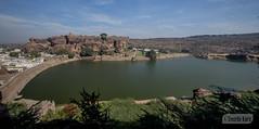 View of Agasythya lake from the caves (Vinda Kare) Tags: india ancient karnataka badami temple vatapi bagalkot lake sandstone water