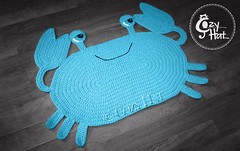 Blue Crab Rug Handmade by Cozy Hat (Anastasia wiley) Tags: blue crab rug crochet handmade decor kids room oval crabs character baby shower knit craft cozy hat wow family anastasia wiley anastasiawiley cozyhat
