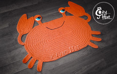 Crab Rug Handmade by Cozy Hat #crochet #crab (Anastasia wiley) Tags: crab rug orange mat decor kids room cozyhat cozy hat handmade knit crochet craft creative