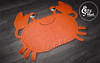Crab Rug Handmade by Cozy Hat #crochet #crab (Anastasia wiley) Tags: crab rug orange mat decor kids room cozyhat cozy hat handmade knit crochet craft creative