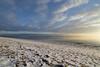 capturing moments (Barbara A. White) Tags: ottawariver constancebay clouds beach snow sunrise gatineauhills landscape riverscape canada