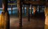 Night Time Under the Pier (danielledufour430) Tags: pillars pier underneath under sea ocean tide surf coast beach california sandiego sonya6000 night dark longexposure