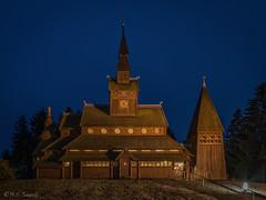 Stabkirche (mar_lies1107) Tags: stabkirche hahnenklee harz deutschland germany gabäude kirche holz architektur gebäude blauestunde