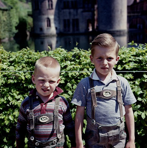 Mark and Mike in Lederhosen