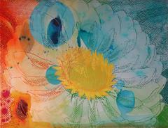 DSC0966891 (scott_waterman) Tags: scottwaterman painting paper ink watercolor gouache lotus lotusflower blue bluehue