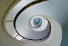Ciel blue (Maerten Prins) Tags: duitsland deutschland germany berlin berlijn stair stairs stairwel trappenhuis treppen upshot white curve curves line lines railing soft tonsurton spiraal spiral hotel kempinski