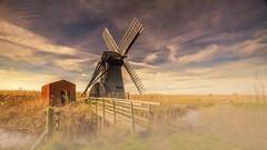 Misty Morning Mill (waynedavey67) Tags: canon 6d 1635mmf4 landscape skyscape windmill windpump sails norfolkbroads norfolk suffolk river water marsh marshes reeds mist misty fog foggy rural victorian wideangle leefilters nature outside outdoors colour