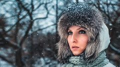 snow+fall (andreysergeevich) Tags: portrait girl russiangirl russia bryansk snow snowfall outdoor people nikon helios kat has32 has32photo