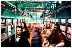 Heavenly bus (Swissrock-II) Tags: challenge busline digitalmania photoshop photoart photomanipulation digitalart digital lightroom march 2017 abrahamlincoln monalisa marilynmonroe andykobel pixlr deviantart