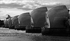 the London pod race is on (lunaryuna) Tags: london thames river floodbarriers thamesbarriers scifibuffsunleashed scifiworldsofmyown scifiesque thefutureisnow flooding defence urbanconstructs lunaryuna