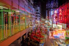旺 角 卡 門 (Wilson Au | 一期一会) Tags: fujifilmxe2 fujinon xf1855mmf284rlmois doubleexposure mongkok hongkong night city 香港 旺角 neon neonlight