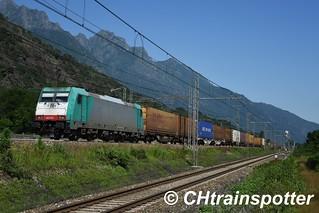 Crossrail: E483 015, Premosello (I)