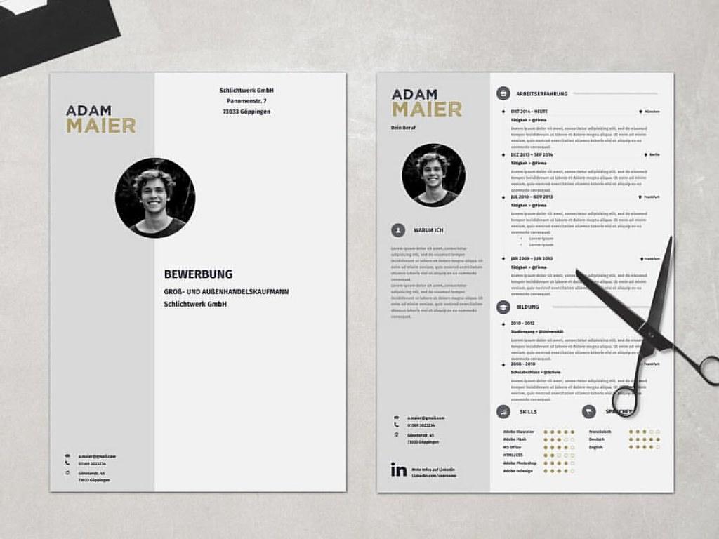 Bewerbungsvorlage - Mr. Maier #bewerben #karriere #kreativ  #bewerbungsvorlage #bewerbungsvorlagen #